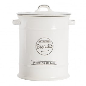Pride of Place White Large Biscuit Jar