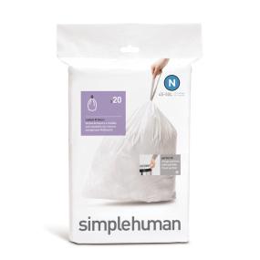 Simplehuman 45 Litre Sure Fit Bin Liners - Size N