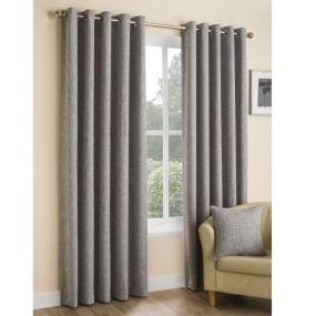 Belfield Huxley Silver Curtains 66 x 90