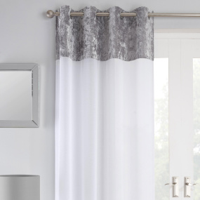 Liberty Silver 72 Inch Voile Panel