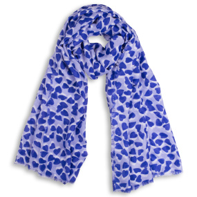 Katie Loxton Blue Heart Print Scarf