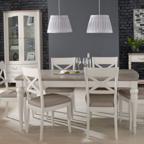 Hampton Small Extending Dining Table & 4 Dining Chairs - Lifestyle