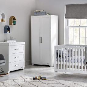 Babystyle White Monte Carlo 3 Piece Nursery Set With Mattress | Housing Units