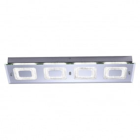 Lisa LED Four Rectangular Flush Ceiling Light