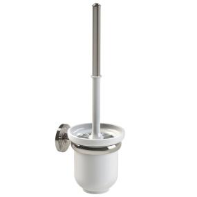 Miller Oslo Polished Nickel Toilet Brush & Holder