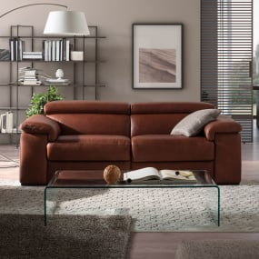 Natuzzi Editions Solare Tan Leather 3 Seater Recliner Sofa
