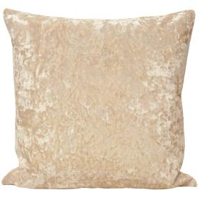 Riva Paoletti Roma Crushed Velvet Ivory Cushion