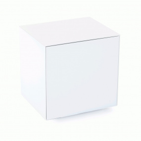 Invictus White High Gloss Lamp Table - Self Build