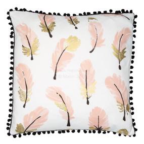 Malini Fayre Feather Pink Cushion