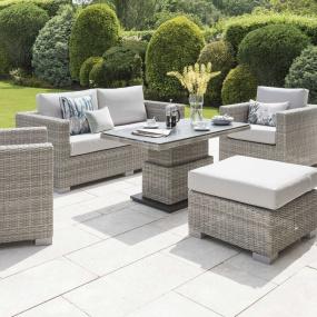 Norfolk Leisure Malibu Rattan 2 Seater Sofa Garden Set
