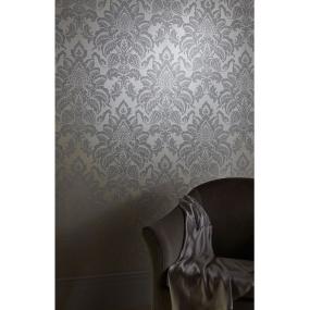 Arthouse Glisten Damask Platinum Wallpaper