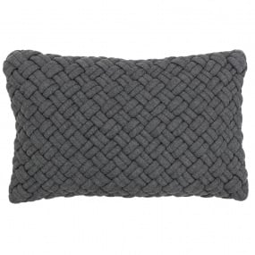 Riva Paoletti Kriss Charcoal Quilted Cushion Cover