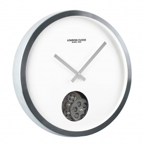 London Clock Company Silver Cog Wall Clock