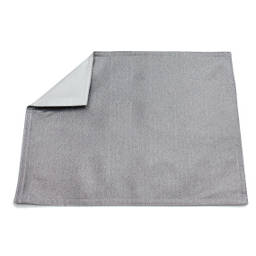 Set of 2 Silver Glimmer Placemats