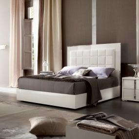 Rosso High Gloss White Bedroom Collection
