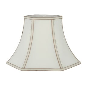Bowed Hexagonal 10 Inch Cream Lamp Shade