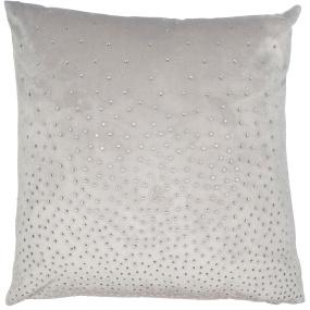 Malini SilverDiamante Velvet Cushion
