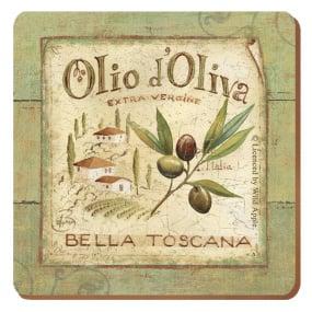 Premium Olio D'Oliva Set of 6 Coasters