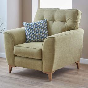 Weston Lime Fabric Armchair - Lifestyle | Housing Units