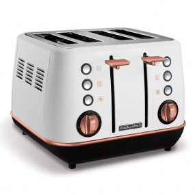 Morphy Richards Evoke Rose Gold & White 4 Slice Toaster