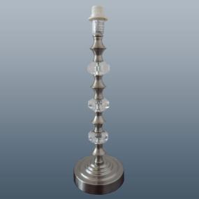 HU Home Rhiannah Satin Nickel Table Lamp Base