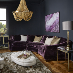 Henrietta Fabric Curved Corner Group and Sofa Collection