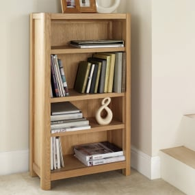 Oslo Light Oak Small Bookcase