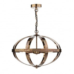 Symbol 3 Light Petrol Copper Pendant Light
