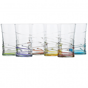 Symphony Prism Swirl Set of 6 Glasses