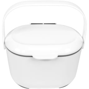 Addis Soft Touch White and Grey Compost Caddy