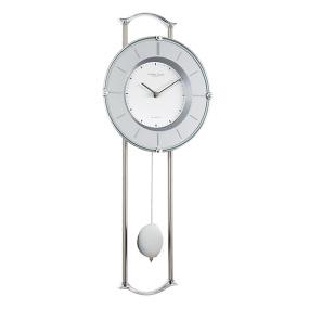 London Clock Company Silver Pendulum Wall Clock