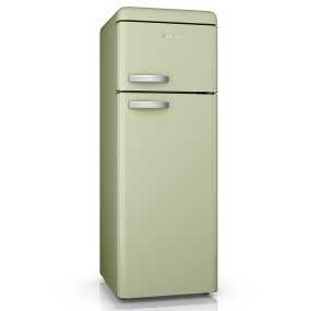 Swan Retro Green Top Mounted Fridge Freezer