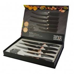 Taylors Eye Witness Brooklyn Copper 5 Piece Kitchen Knife Set