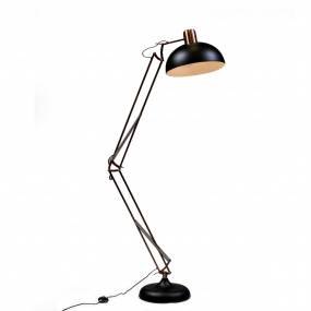 Traditional Black and Copper XL Floor Lamp