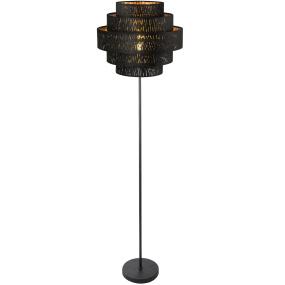 Globo Tuxon Black Velvet Floor Lamp