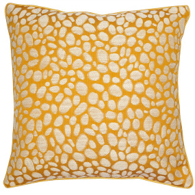 Malini Pebbles Weave Mustard Cushion