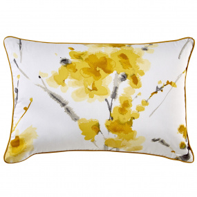 Christy Ink Flower Ochre Cushion