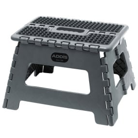 Addis Metallic Grey Folding Step Stool