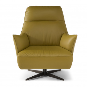 Natuzzi Editions Leather Calma Swivel Chair