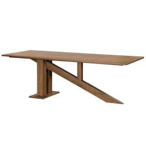 Seattle 240cm Oak Dining Table - Angled | Housing Units
