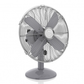 Swan Retro Grey 12 Inch Desk Fan