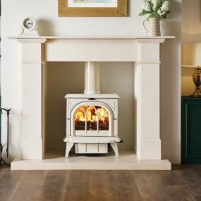 Stovax Huntingdon 35 Ivory White Multi Fuel Stove