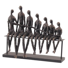 Family Bench Sculpture