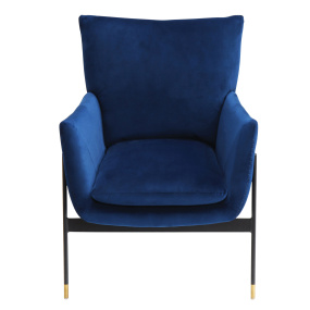 Lola Blue Velvet Accent Chair
