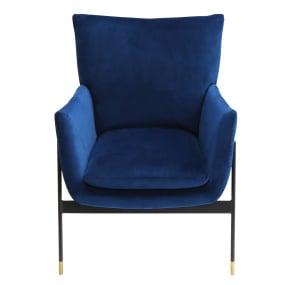 Lola Blue Velvet Accent Chair