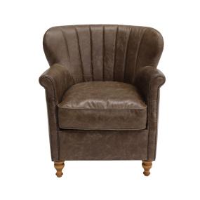 Kelvin Satchel Biscotti Leather Armchair
