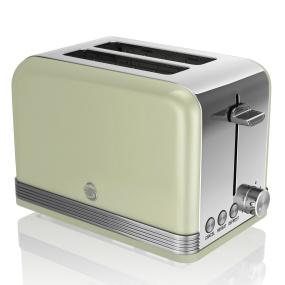 Swan Retro Green 2 Slice Toaster