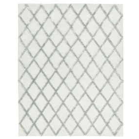 Dixon Silver Diamond Rug - Flat