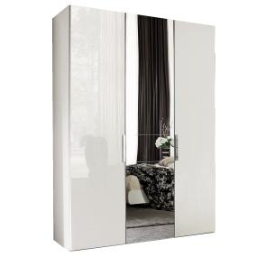 Torino White High Gloss 3 Door 239cm Wardrobe
