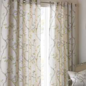 Riva Paoletti Rosemoor Natural 66x54 Curtains